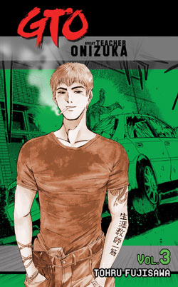 Onizuka, with a wrecked Cresta in the background.